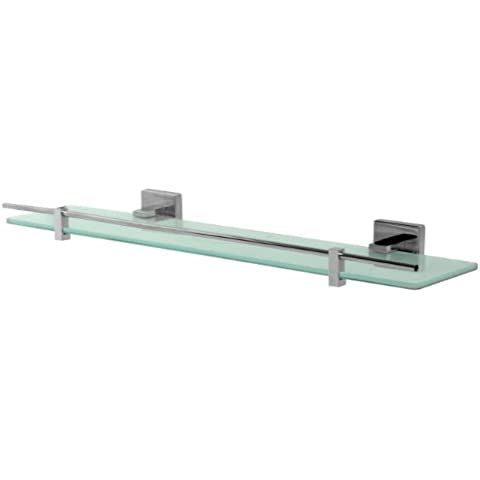 Bisk 01461 Arktic Estante rectangular, cristal,50 x 12,8 x 5 cm, acabado cromado