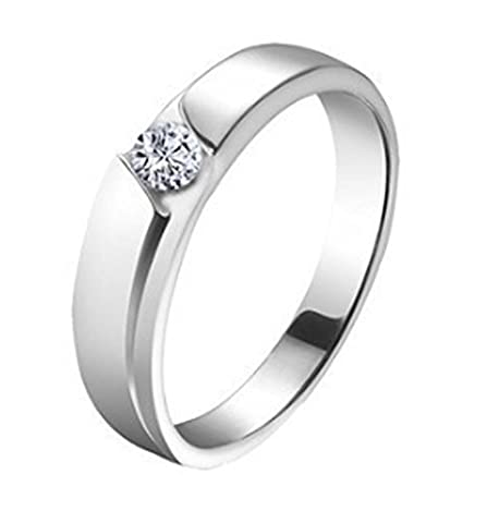 SaySure - 925 Sterling Silver Bague en argent Jewelry (SIZE : 7.5)