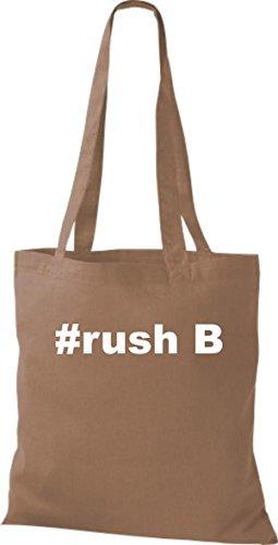rush B Hashtag Shirtstown caramel Stoffbeutel qzHWnBETE