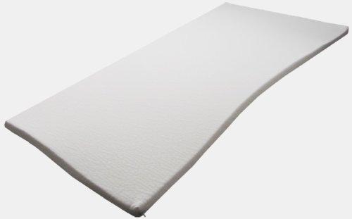 Pyramidenkönig Sondermaße 5cm Viscoelastische Matratzenauflage mit Bezug Milano Härte 2 Visco Auflage Topper Memory Matratze Gelschaum (130x200cm) -
