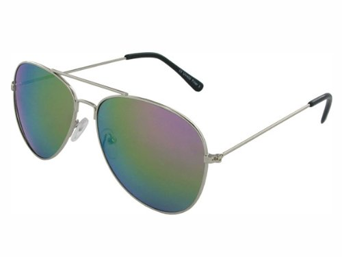 Chic-Net Lunettes de soleil unisexe lunettes de sport lunettes de vélo lunettes d'400UV miroir teinté 3 variantes coloré à l'argent bleu 5DIN1sZqvB