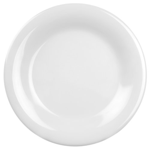 Global Goodwill 12-Piece Series Wide Rim Plate, 11-3/4-Inch, White by Excellante - Serie Wide Rim Plate