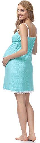 Be Mammy Maternité Chemise de Nuit Femme BE20-140 Turquoise