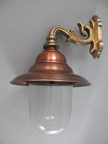 Historismus Außenlampe aus Kupfer, Fassaden Lampe, Außenwandleuchte