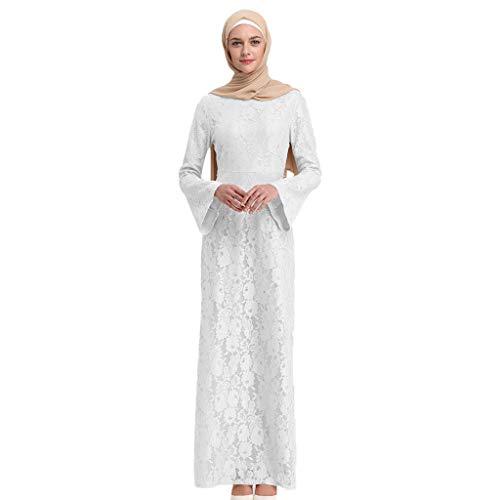 Selbstgemacht Kostüm Kreative - Muslimische Kleider aus Spitzen Stickerei Langes Schlank Maxikleid Muslim Robe Kleider Islamische Kleidung Abaya Dubai Hochzeit Kostüm Elegante Muslimischen Kaftan Kleid