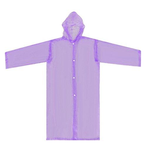 T TOOYFUL Kid Waterproof Raincoat Solid Rainsuit Reusable Rainwear Poncho Lightweight