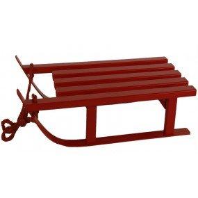 Preisvergleich Produktbild Deko Schlitten rot, Holz, ca. 16x7x4 cm