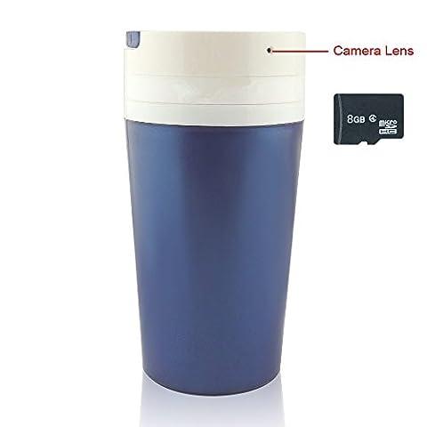 8 GB Portable Water Cup Hidden Spy Camera 1280×960P Video Recorder Motion Activities Detector Indoor & Outdoor Security CAM