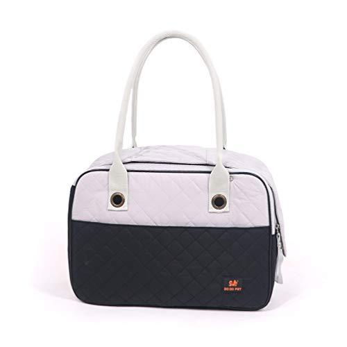 Lin-Tong Pet Bag Travel Pet Outing Paket Schattierung Anti Extrusion Tragbare Atmungsaktive Soft Pet Carrier Vollständig Geschlossenes Design - Schwarz