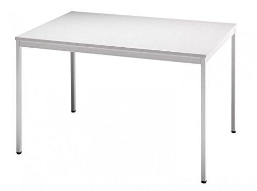 Besprechungstisch V-Serie DR-Büro - Maße 120 x 80 cm - erweiterbares Tischsystem grau - Tischfuß...