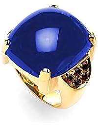 ansuini kalì Anillo para mujer oro amarillo con piedras preciosas y Jade Natural Made in Italy