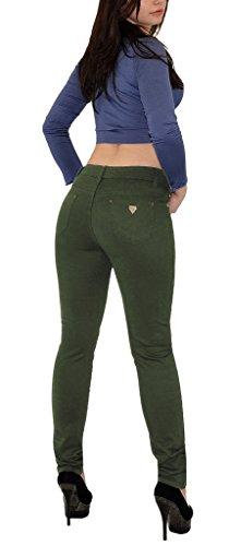 Jean femme Jeans pour femmes taille haute pantalon en jean femme de grande taille H50 H50-vert