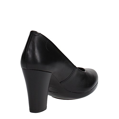 GRUNLAND AQUA SC1595 nero scarpe donna decolletè pelle plateaux Nero