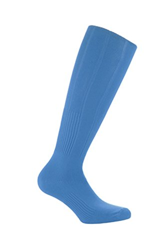 Samson Hosiery    Football Plain Knee High Socks Sports Rugby Hockey Soccer Mens Womens Kids  Small 12-3  Sky