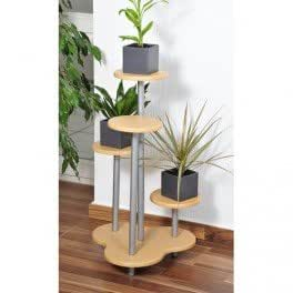 Etag re porte plante 4 niveaux fa on h tre cuisine maison - Support plantes interieur ...