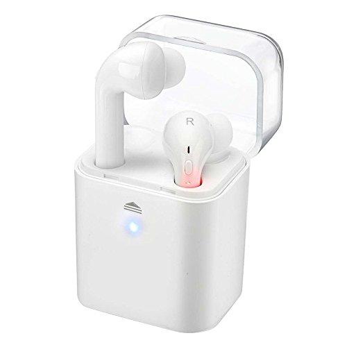 iPhone 7 auriculares, KanLin1986 gemelos inalámbricos auriculares Bluetooth estéreo en el oído auriculares Auriculares (como los airpods) (Blanco)