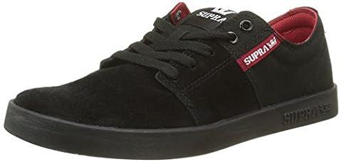 Supra Men's Stacks Ii Low-Top Sneakers, Black (BLACK / RED