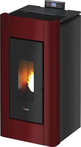 CADEL Prince³ Plus Pelletofen 10,5 kW Pellet Ofen Warmluftverteilung  Prince-Rot