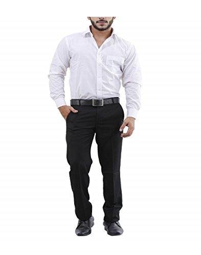 La MODE Men Formal Black Trouser(LA01856_B55032-36)