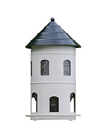 Wildlife Garden Vogelhaus Set FUTTERSTATION + PFAHL weiß Original Futterhaus