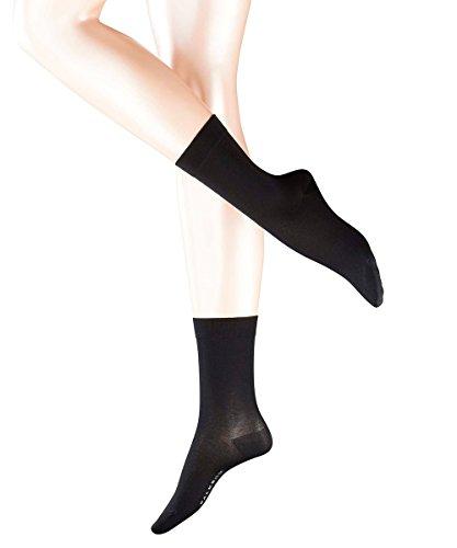falke cotton touch FALKE 3 Paar Damen Socken 47673 Cotton Touch SO Elegant fein und sanft für die Haut, Socken & Strümpfe:35-38, Farbe:Black 3000