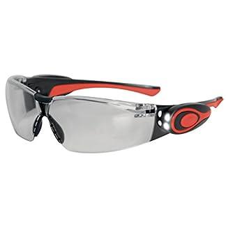 JSP ASA106-121-300 Stealth 8000 – Gafas de trabajo antivaho con linterna led (marco transparente)