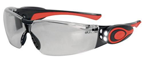JSP Stealth 8000 ASA106-121-300 Brille mit LED-Lampe, Antifog-Beschichtung, durchsichtiger Rahmen