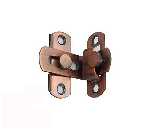 2 PZ 90 gradi serratura ad angolo retto Hasp Bend chiusura scrocco fibbia scorrevole Lock Barile bullone con viti per porte e finestre