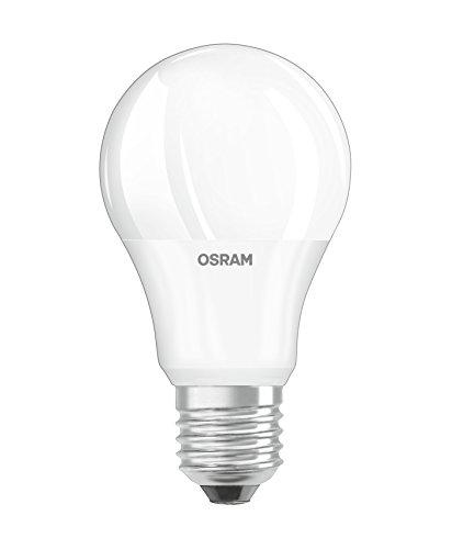 Osram LED Base Classic A, in Kolbenform mit E27- Sockel, Nicht Dimmbar, Ersetzt 75 Watt, Matt, Warmweiß, 3er- Pack