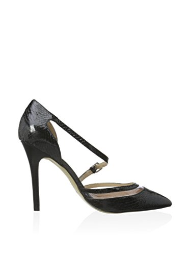 tacco Nero cinturino spillo scarpe LM807 CAFè donna nero NOIR punta wfqUWzxX