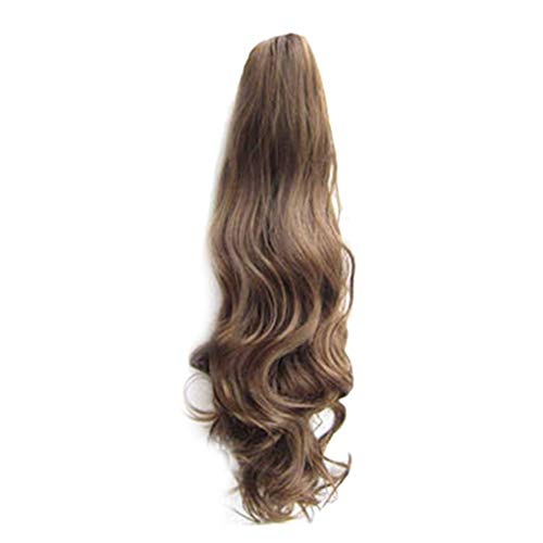 Provide The Best 55cm Femmes Filles Longue Perruque ondulée Ponytail Extension postiche synthétique Clip Hair Extensions