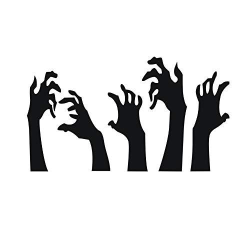 dadasite Halloween Terror Blut Hand Wandaufkleber Wohnzimmer Wohnkultur DIY Poster Tapete Wandtattoos 33 * 56cm, Schwarz (Für Person Eine Halloween Schwarze Als)