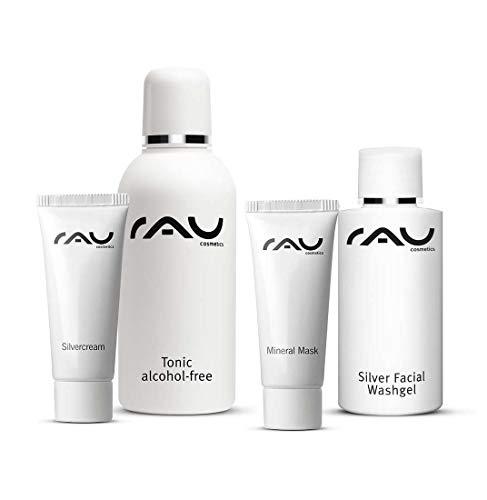 Make-up-starter (RAU Cosmetics Starter-Set unreine Haut - KLEIN - Silver Facial Washgel, Tonic alcohol-free, Silvercream und Mineral Mask)