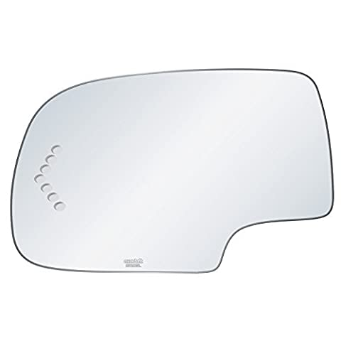 exactafit 8720SL Replacement Power Side Mirror Glass Lens fits Driver's Left Hand LH for Chevrolet Chevy Cadillac GMC GM Escalade Avalanche Silverado Tahoe Sierra Yukon by Rugged TUFF by