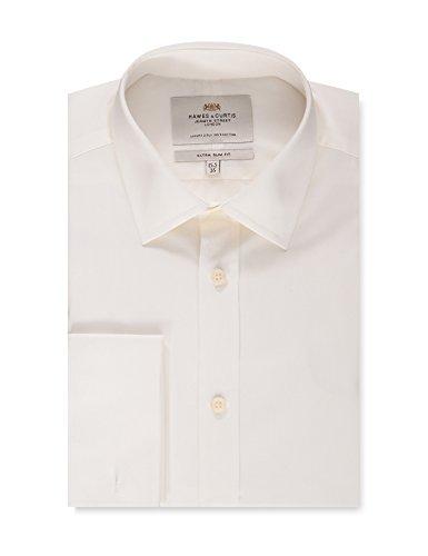 Hawes & Curtis Business Hemd – Extra Slim Fit – Manschetten – Creme Elfenbein Elfenbein 38cm Kragen, 84cm Ärmel (UK 15-33) (Hemd 33 Manschette)