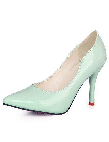 XM Scarpe Donna - Scarpe col tacco - Formale / Casual - A punta - A stiletto - Vernice - Nero / Verde / Bianco , green-us5.5 / eu36 / uk3.5 / cn35 , green-us5.5 / eu36 / uk3.5 / cn35