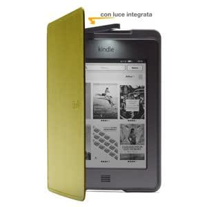Custodia Amazon in pelle con luce per Kindle Touch, colore: Verde (adatta solo per Kindle Touch)