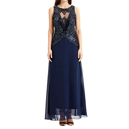 JUTOO 2018 Ropa de Mujer Women Vintage 1920s Bead Fringe Sequin Lace Party Flapper Cocktail Prom Dress