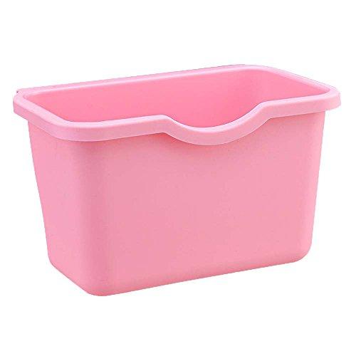 Setsail Hängender Abfallbehälter Aufbewahrungsbehälter der Küche Küchen Abfalleimer Multifunktions Abfallbehälter, Bio Mülleimer, Abfallsammler zum Hinstellen oder zum Anhängen (Rosa)