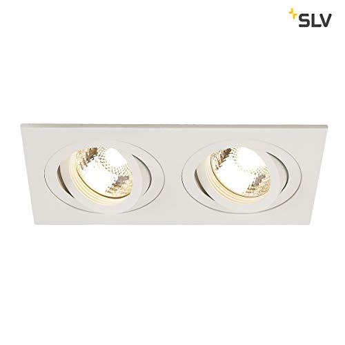 SLV New TRIA 2 Einbauleuchte, Aluminium, weiß -
