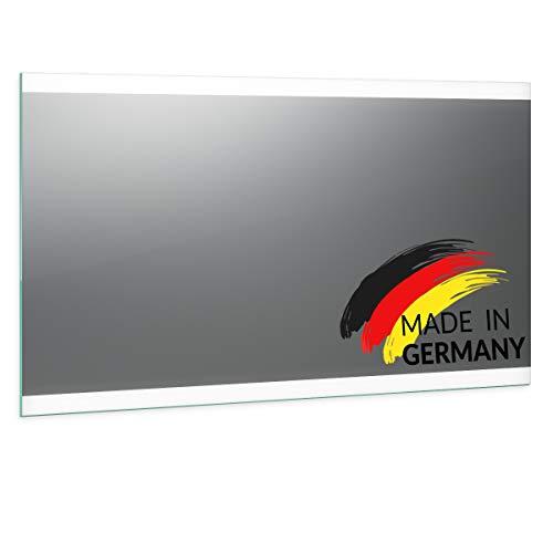 Spiegel ID Noemi 2020 Design: LED BADSPIEGEL mit Beleuchtung - Made in Germany - individuell nach Maß - Auswahl: (Breite) 100 cm x (Höhe) 80 cm
