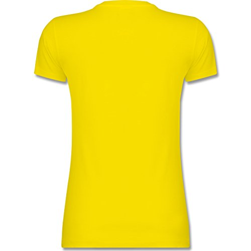 Shirtracer Valentinstag - Better Together - Damen T-Shirt Rundhals Lemon Gelb