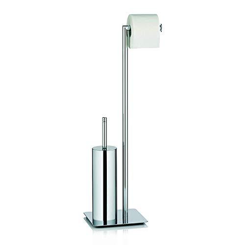 Kela 22490 Toilettengarnitur, WC-Bürstenbehälter und Papierhalterung, Style, Verchromtes Metall, 71cm