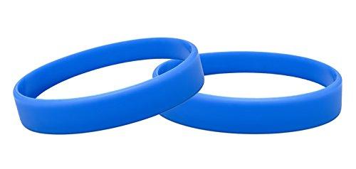 J&R 10, Silikon Armbänder, Händen Gummi Armbänder, Partyzubehör (Blau)