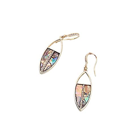 LARESDOMI Bohemian Vintage Dangle Drop Pendant Earrings Gold-tone Crystal Incrusted Simulated Leaf Classic Art Deco Gift For Lady Women Girls - Gemstone Encrusted