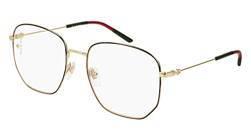 Gucci Brillen GG0396O BLACK GOLD Unisex (Gucci Brillengestelle Männer)