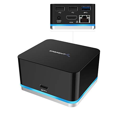 Sabrent USB-Mini-Continuum-Dockingstation mit 5 USB-C Anschlüssen, unterstützt