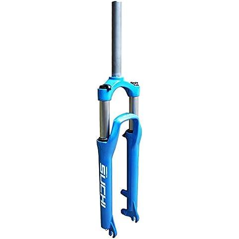 upanbike Discos de Freno de Bicicleta de montaña 26Inch bicicleta Repuestos horquilla horquilla de suspensión, 1–1/8, azul