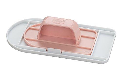 Dr. Oetker Fondantglätter Set 3-tlg., zum Glätten von Marzipan und Fondant, für kleine und große Tortenoberflächen passend, platzsparend verstaubar, (Farbe: weiß/rosa), Menge: 1 Stück