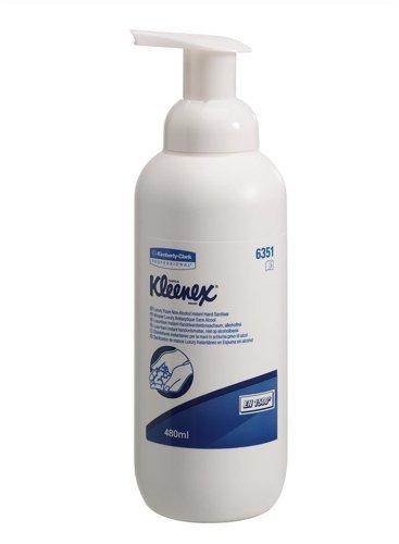 Kleenex Handdesinfektionsgel mit AlkoholFlasche 480ml 480ml